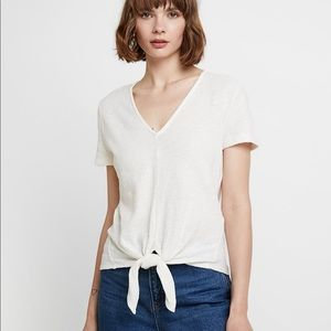 Madewell Texture & Thread V-Neck Modern Tie-Front